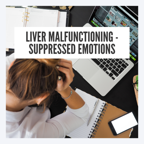 Liver malfunctioning because of frustration suppression