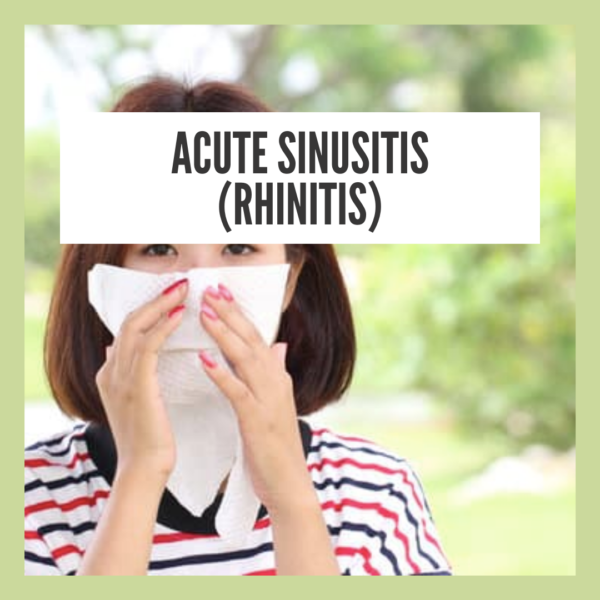 Natural Home Remedy For Acute Sinusitis